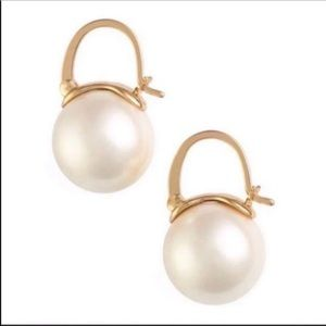 $58 New Kate Spade Gold Pearl Earring